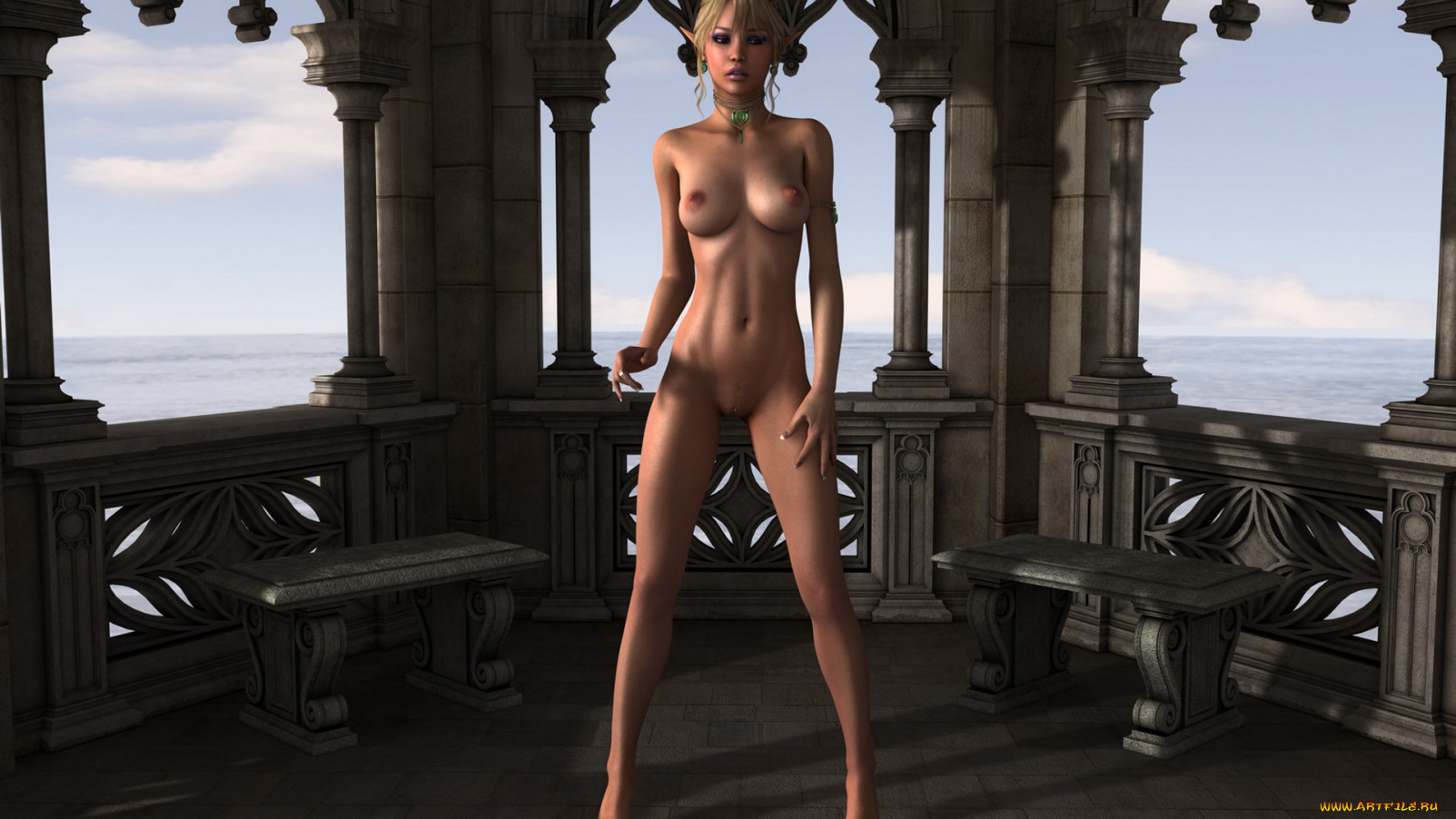 Nude 3d elf drawing nackt picture